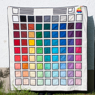 Colour Picker Quilt finished | by mybearpaw