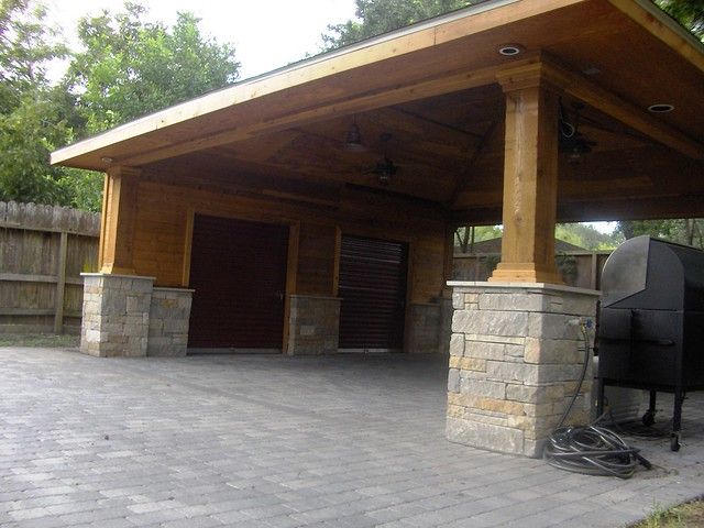 Paver Driveway With Carport And Storage 10 Flickr