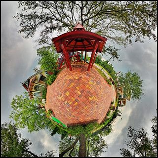 Red Gazebo - Tiny Planet | by fpsurgeon
