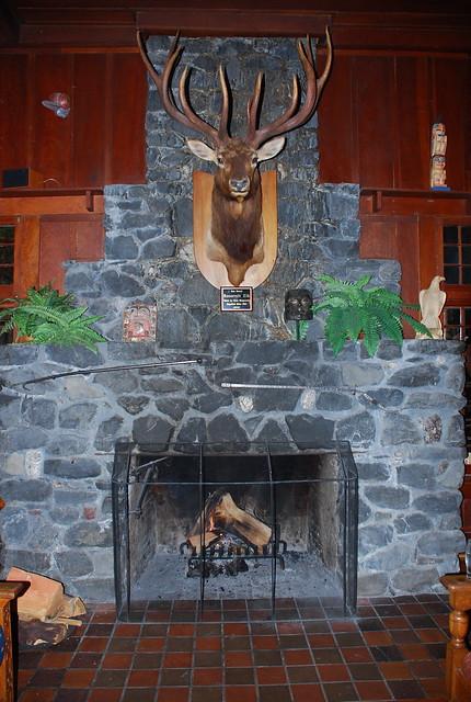 Elk mount fireplace - photo#11