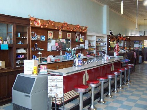 Soda Fountain At Hunter Drug Store Open The Front Door