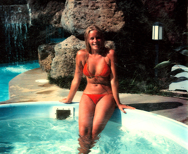 Kathy Dupure In A Bikini This Is Another Old Photo From