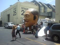Giant scary Eddie Murphy head | by Peggy Archer