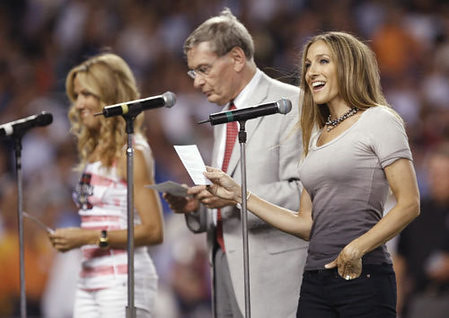 Sheryl Crow, Comissioner Selig and Sarah Jessica Parker | by standup2cancer
