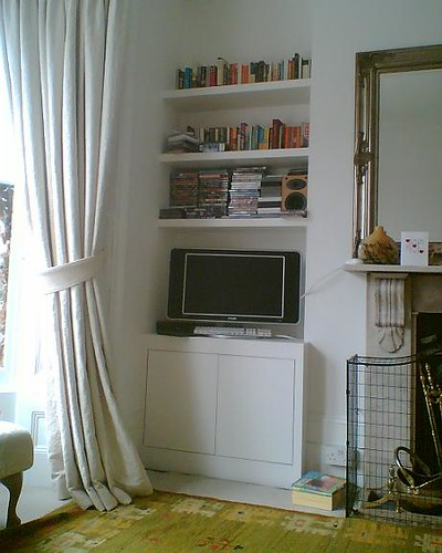 Living Room Alcove Decorating Ideas: Push To Open Flat Doors With Audio