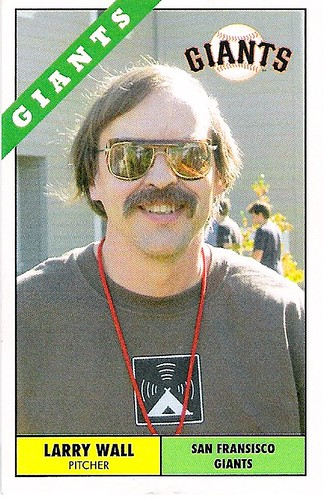 Oslo.pm Larry Wall Baseball Card (front) | by brian_d_foy