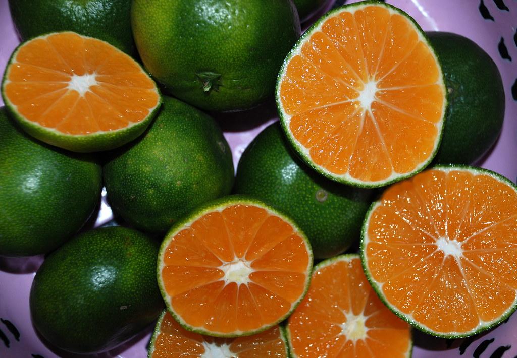 Orange And Green Nail Designs