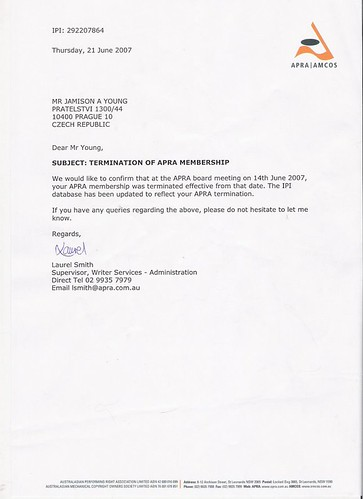 Example Letter Of Termination Employment Termination Letter Sample