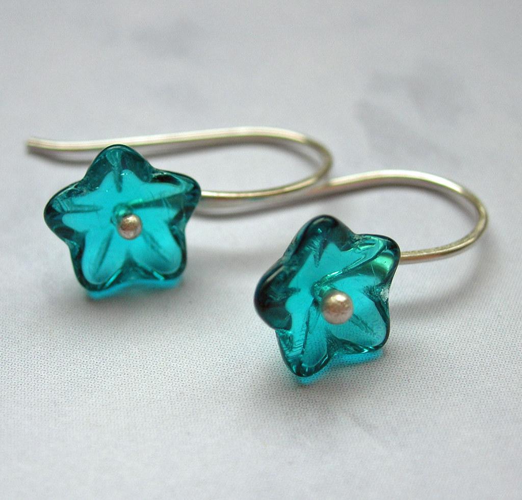 petite fleur bleue silver earrings petite fleur bleue or s flickr. Black Bedroom Furniture Sets. Home Design Ideas