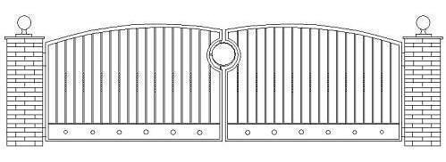 Driveway Gate Design Cad Drawing Cad Drawing Of A