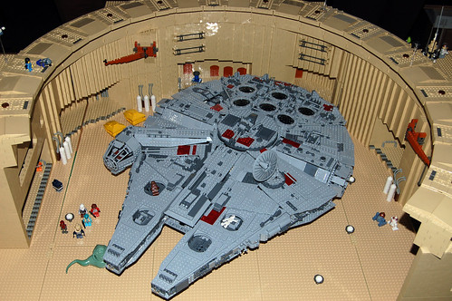 Lego Millennium Falcon @ Mos Eisley, Tatooine | by Rob Young