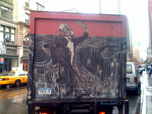 Swoon truck pulls out into traffic | by Haiku575