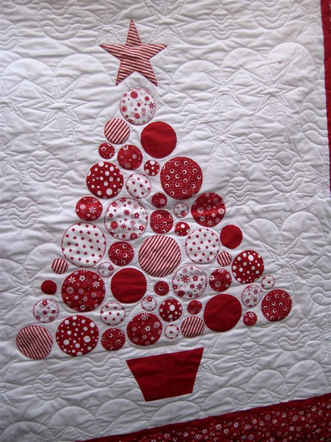 christmas tree quilt detail by lululollylegs