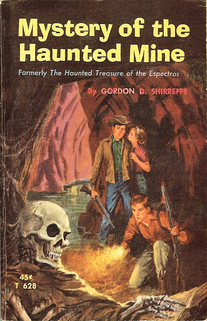 Mystery Book Cover Illustration : Mystery of the haunted mine by gordon d