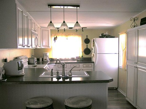 Mobile home kitchen when you are here you can 39 t believe y flickr Mobile home kitchen remodel pictures