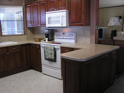 Mobile home kitchen made out of maple cabinets and alder d flickr - Mobile homes kitchen designs ideas ...
