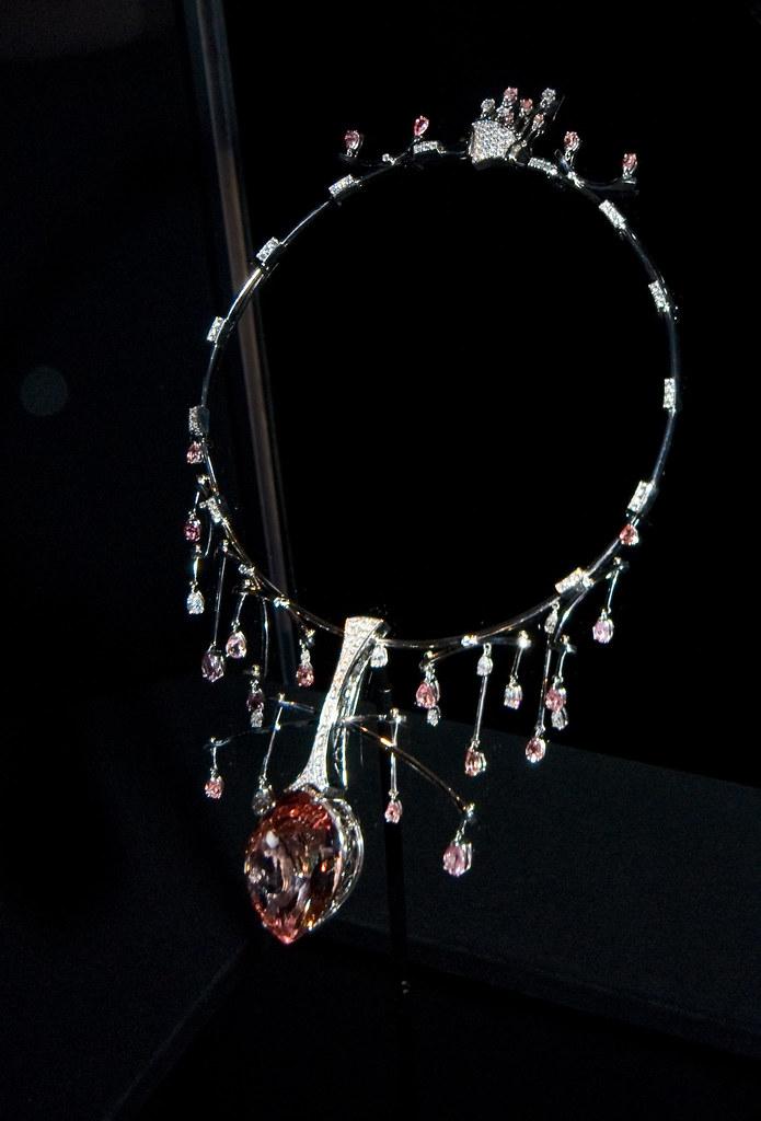Morganite And Diamond Halo Cushion Ring In K Rose Gold