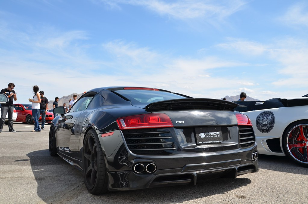 Black Audi R8 With Prior Design Body Kit At Mfest Prior