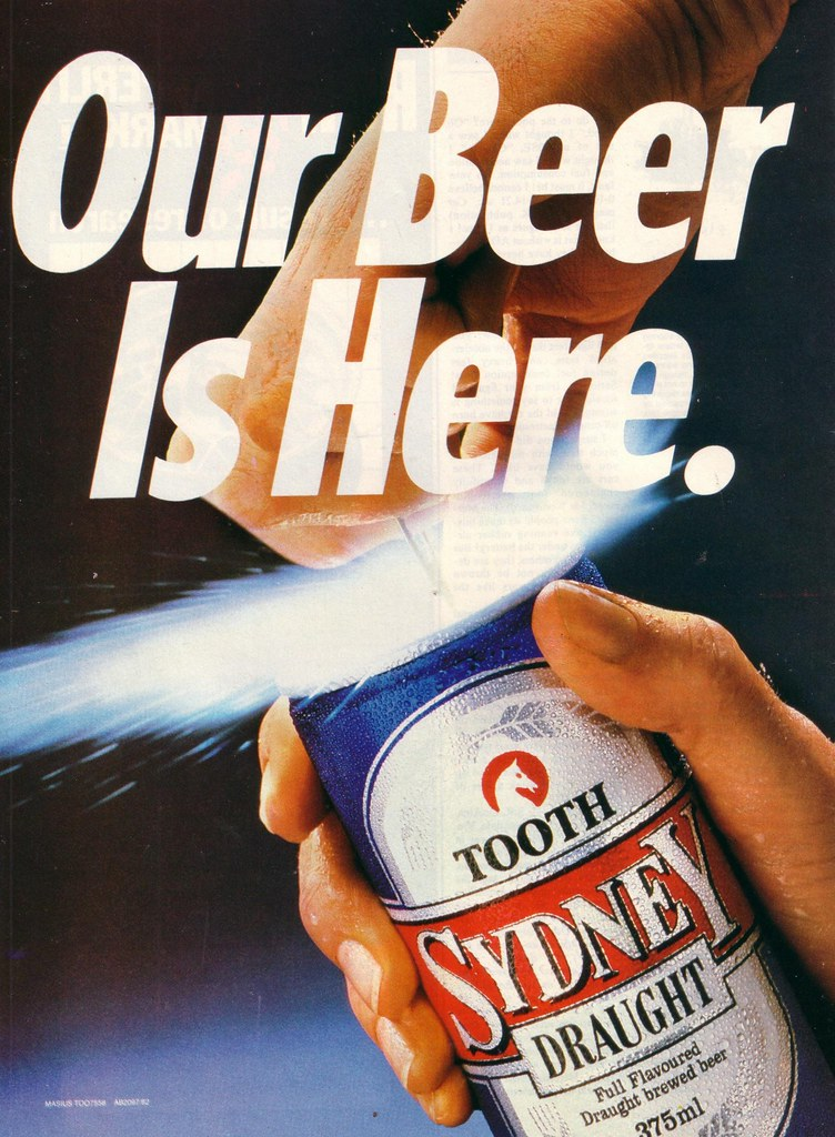 1983 Tooth Sydney Draught Beer Ad Australia Covers A