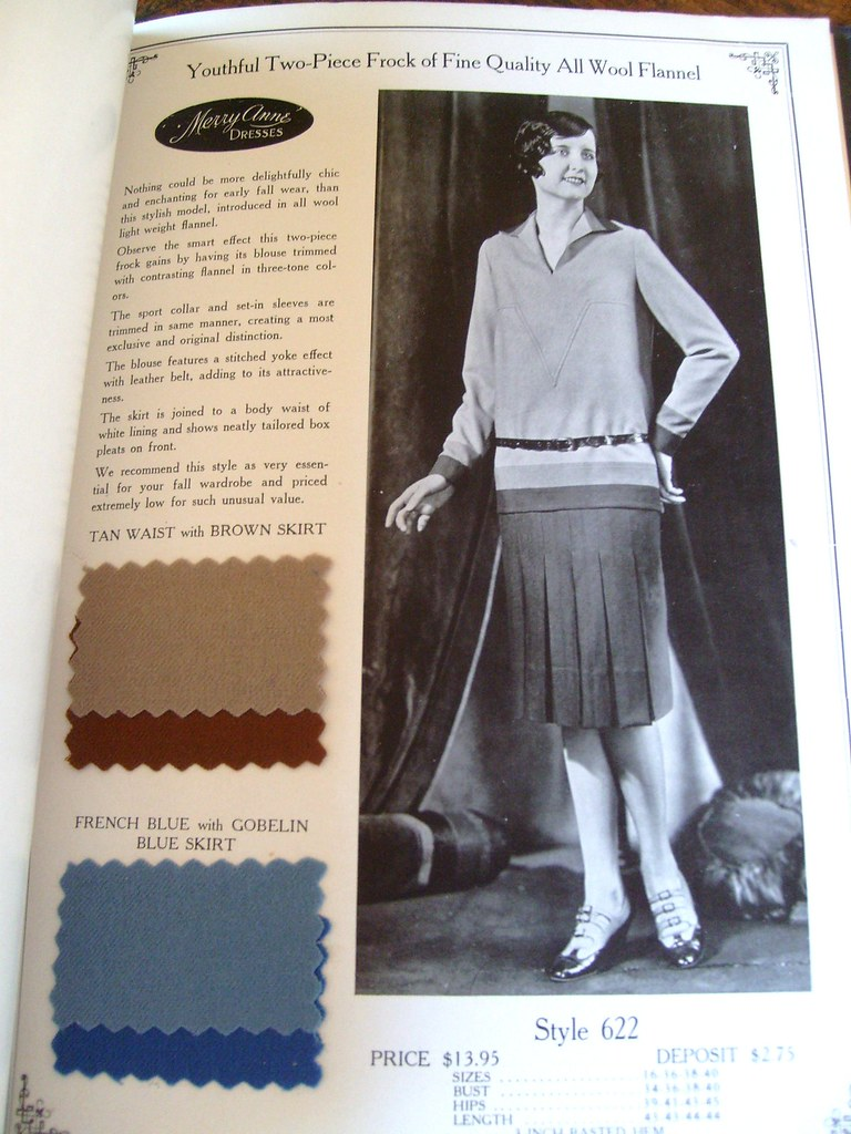 1927 Catalog Garment Clothing Authentic Vintage The New Me ...