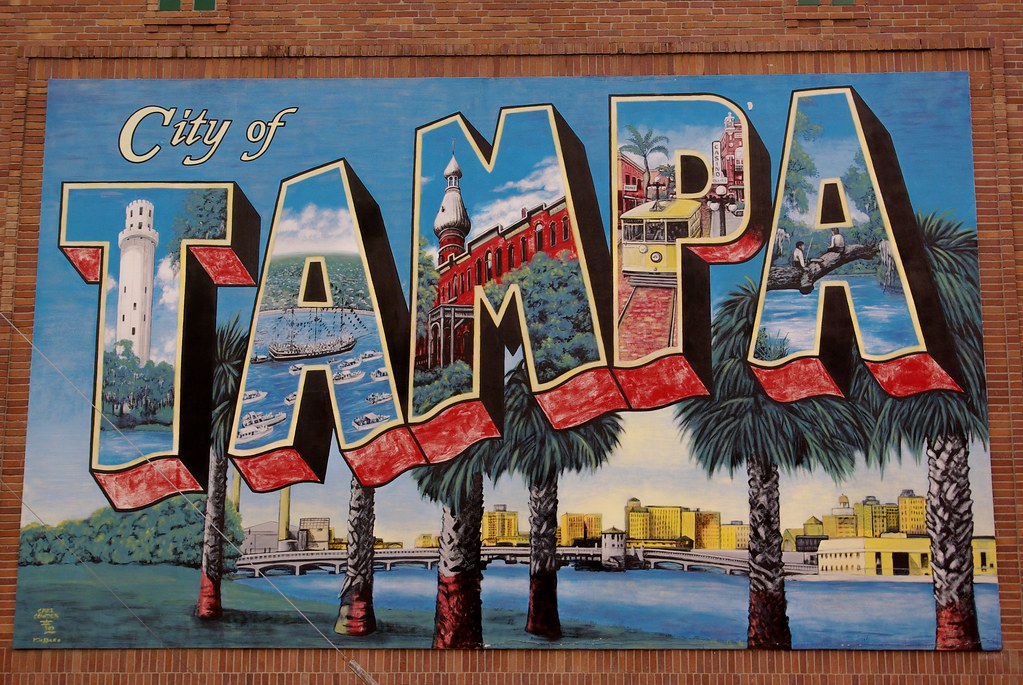 City of tampa a mural in downtown tampa florida ed for City of tampa mural