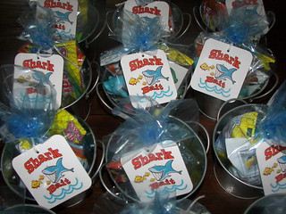 Shark Bait party favors | by mommawants1more