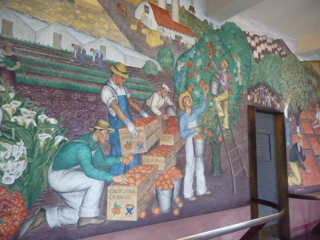 Coit tower murals inside coit tower you can find murals for Coit tower mural