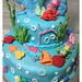 The Little Mermaid cake (details 4)