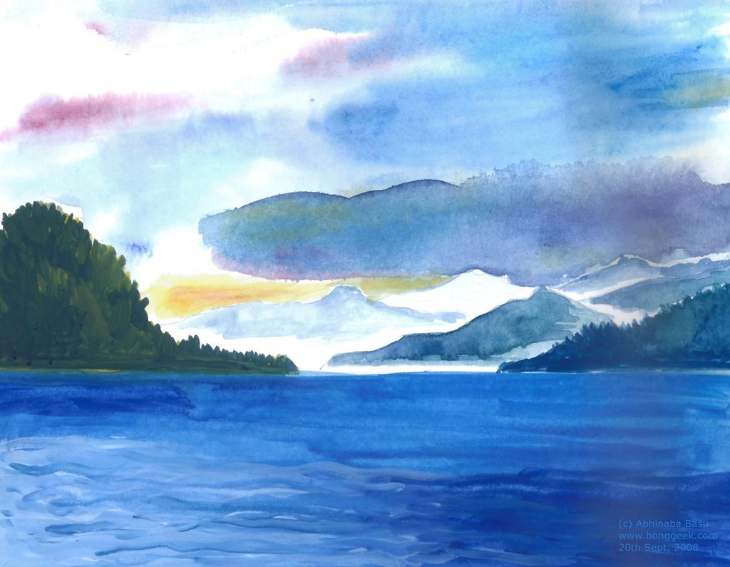 Sea - Watercolor on Paper | This is my second attempt at ...