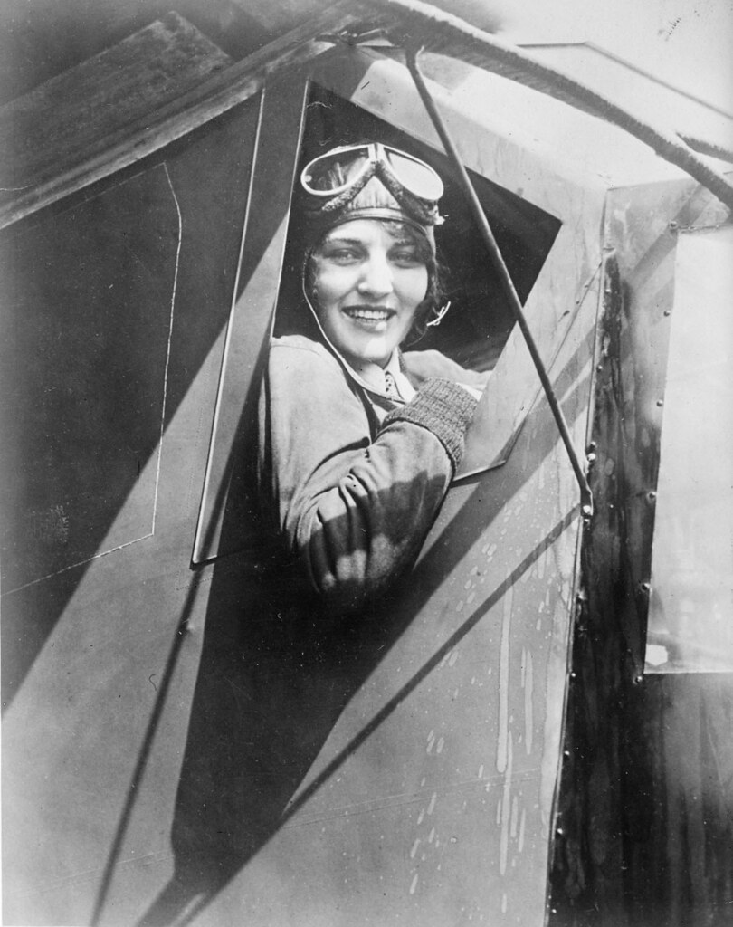 Ruth Elder in her plane | File name: 08_06_001785 Title ...