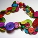 Funky Vintage Multicolored Button Necklace