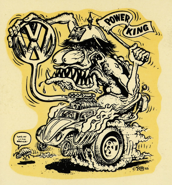 vw power king ed big daddy roth water slide decal art. Black Bedroom Furniture Sets. Home Design Ideas