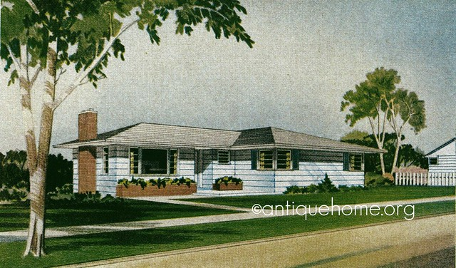 The glendale 1950s ranch style home mid century house for 1950 bungalow house plans