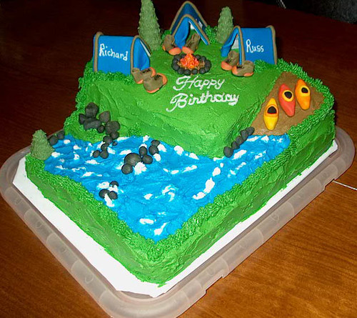 Camping And Fishing Cakes