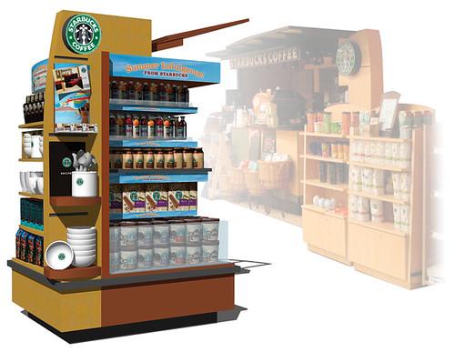 Starbucks Safeway Island Kiosk Pop Display Build A Brand