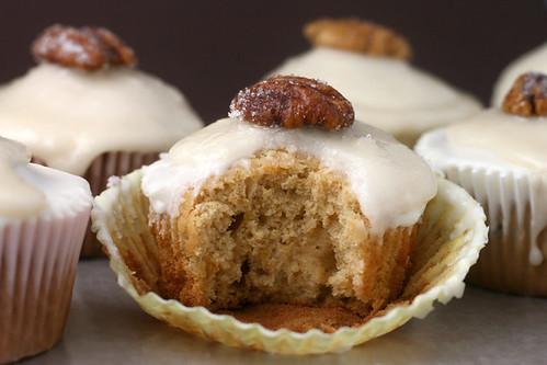 Bourbon Sweet Potato Cupcakes | by Bakerella
