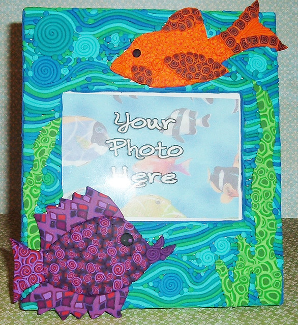Tropical fish frame one of a kind photo frame created for Fish photo frame