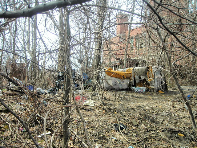 homeless people live in the woods flickr photo sharing. Black Bedroom Furniture Sets. Home Design Ideas