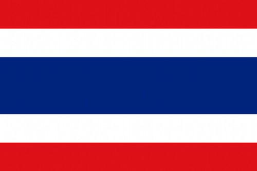 Thailand Map With Flag