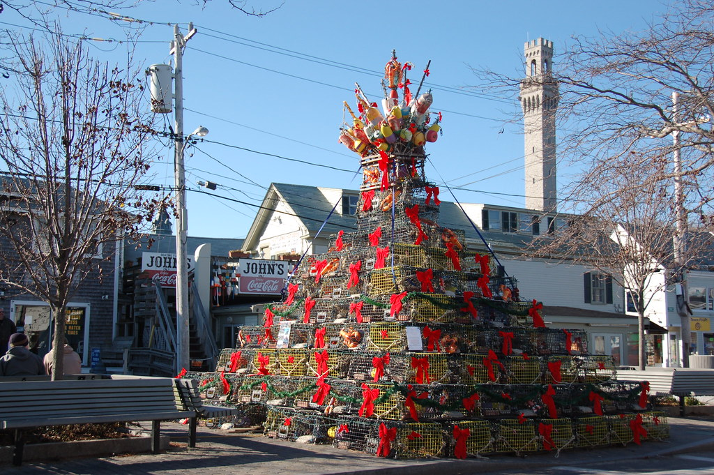 Provincetown: Maritime Christmas: A tree (with crown) made ...
