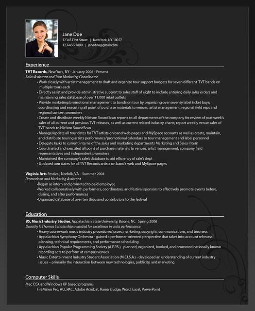 Online Resume Formating