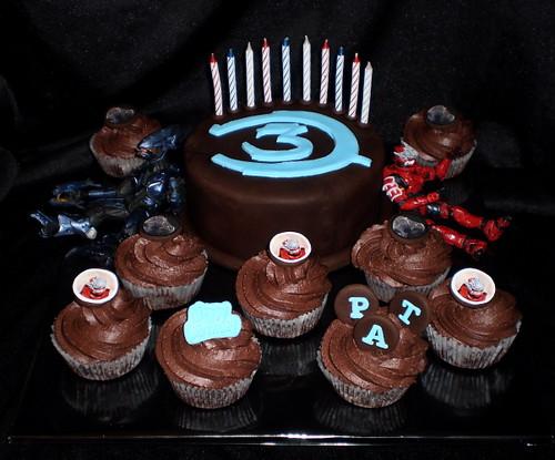 Pats Halo Birthday Cupcakes So My Darling Nephew Is