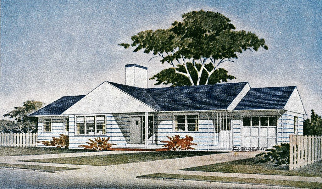 The groveland 1950s ranch style home floor plans flickr for 1950 s house plans