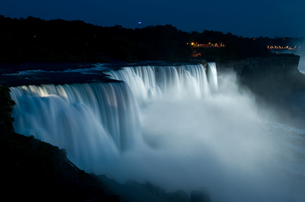 Night View Of Niagara Falls Actually It S Taken From The