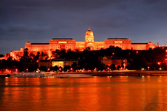 Castle of Buda by night