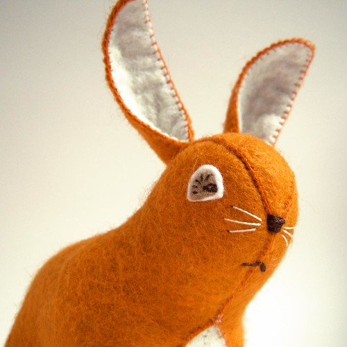 Pumpkin Spice Wool Felt Plush Bunny | by girlsavage