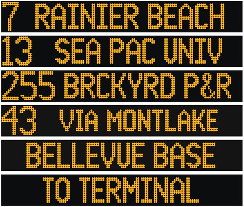 Metro Bus Destination Signs I M Creating A Font That