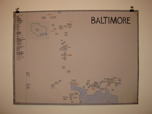 Baltimore Travelogue Map | by Lokesh_Dhakar
