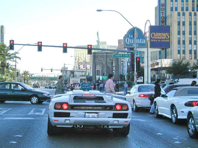 ... Nv260117 Las Vegas Strip Lamborghini Traffic, Nevada 2000   By  CanadaGood