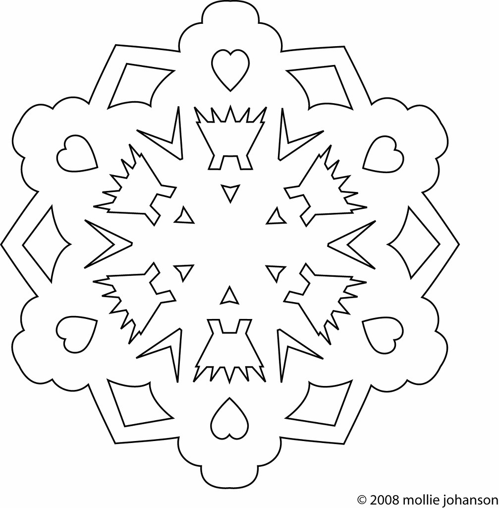 Free Snowflake Embroidery Pattern This Is Based On One Of Flickr
